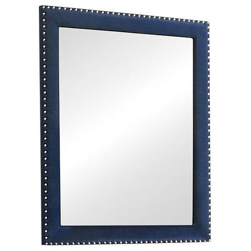 Cali Melody Contemporary Pacific Blue Matte Velvet Mirror