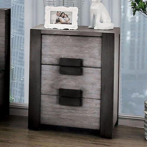 JANEIRO Imprad Gray Modern Nightstand
