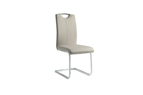 Glissand Henry Gray-Taupe Vinyl Side Chair