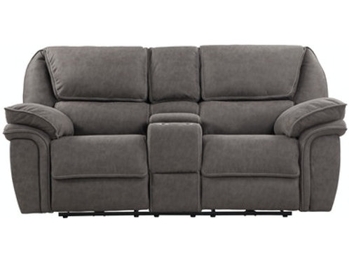 Emeral Allyn Gray Power Motion Console Loveseat w/USB Outlet