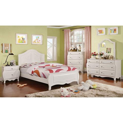 Roxana Imprad Transitional Style White Bed