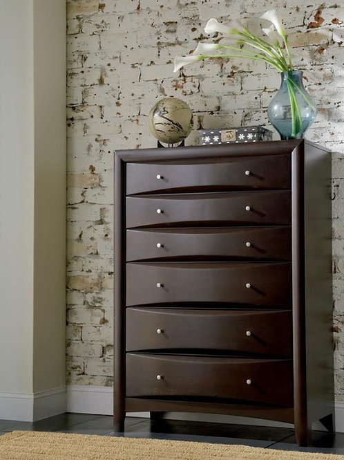 Phoenix Cali 6-drawer Chest Cappuccino