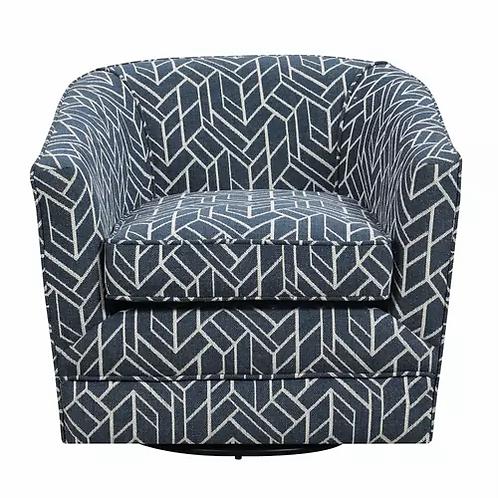 Emeral Trilogy Swivel Navy Pattern Chair