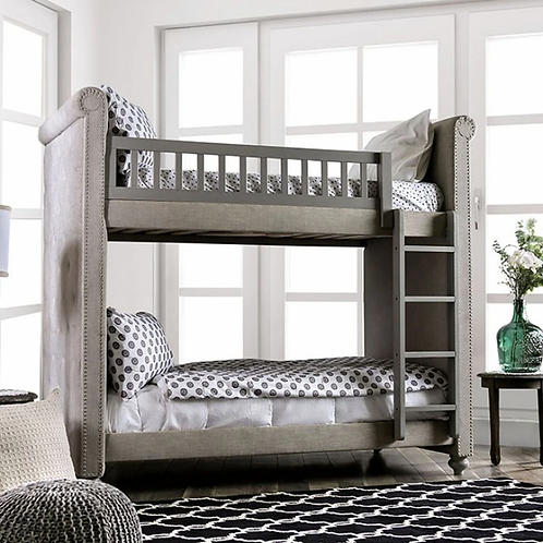 SASCHA Imprad Twin/Twin Gray Bunk Bed