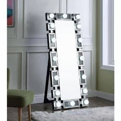 Noralie All Mirrored with LED Floor Mirror