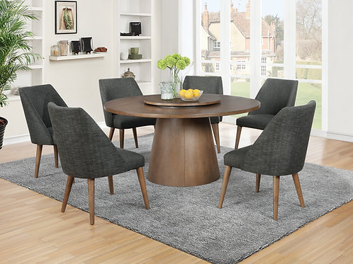 Beverly Cali Drum Base Round Dining Table Dark Cocoa
