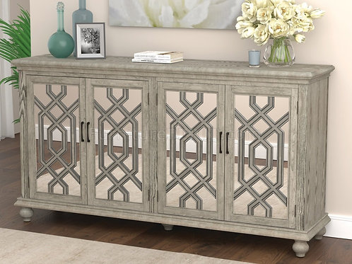 Cali 952845 Accent Cabinet Antique White Finish