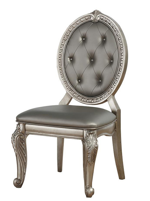 Northville All PU/Antique Champagne Side Chair