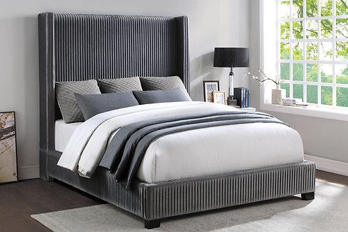 Henry Glenbury Grey Velvet Bed