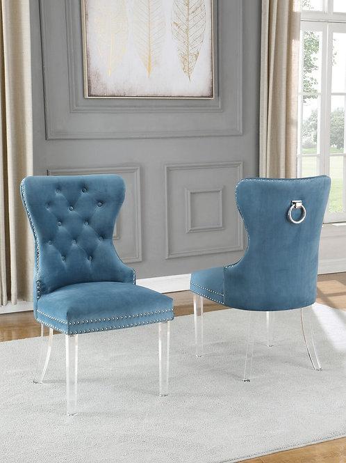 Best Q SC53 Velvet Gray/Acrylic Black Chair