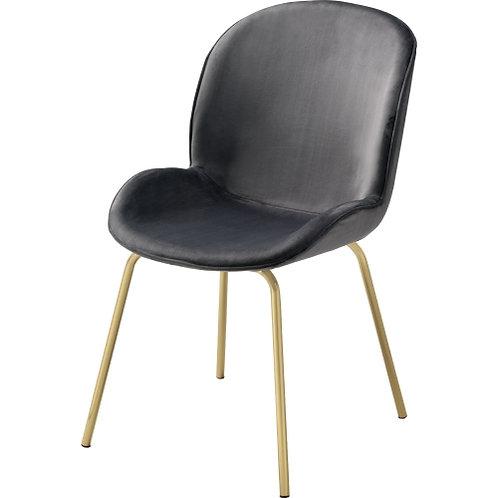Pacheco All Gray Velvet Fabric Side Chair