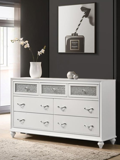 Cali Barzini White Silver Dresser