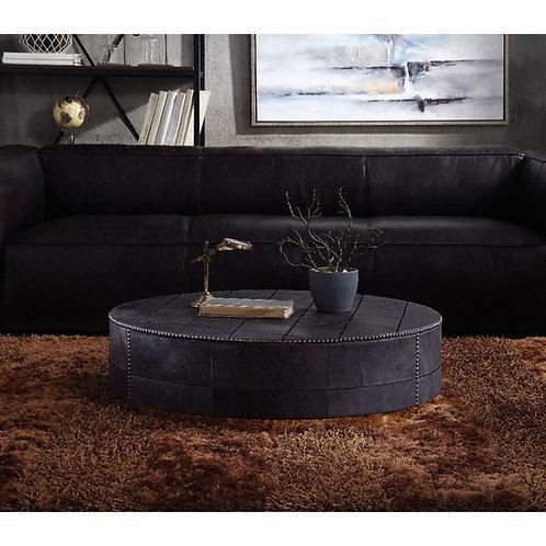 All Ranya Coffee Table - 81225 - Industrial - Slate, Metal, Top Grain Leather