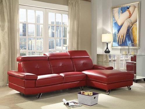 All Aeryn Sectional Sofa Red PU