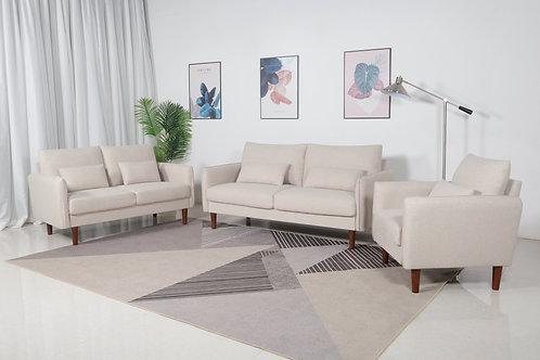 8157 Mg Beige Linen Sofa+Loveseat+Chair