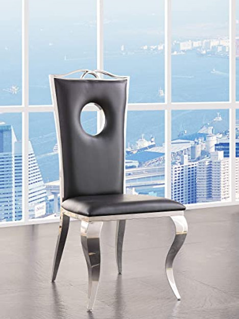 Noralie All 62078 PU Black Side Chair
