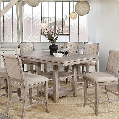 Ledyard Imprad Rustic Natural Tone Counter High Table