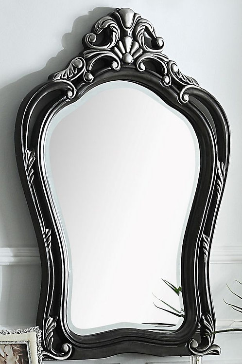 All House of Delphine 2 Tone Charcoal with Silver Trim Vanity Mirror