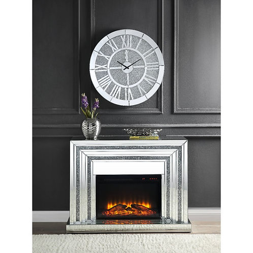 All 90523 Glam Mirrored Fireplace