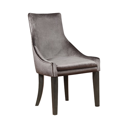 Phelps Cali Upholstered Demi Wing Chair Grey