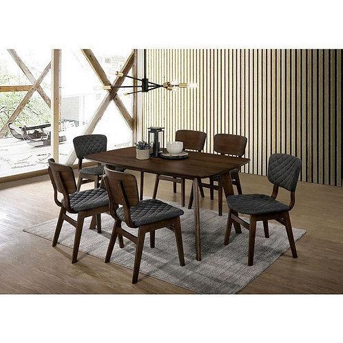 SHAYNA Imprad Walnut/Gray Mid-Century Modern Table