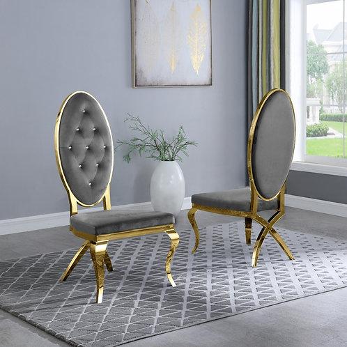 Best Q SC56 Velvet Gray/Gold Chair