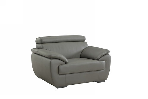 4571 Geo Gray Leather Chair