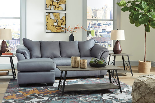 Darsy Angel Steel Contemporary Reversible Sectional