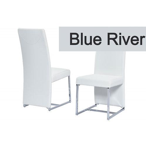 Blue River BA222 Modern White Leatherette Side Chair