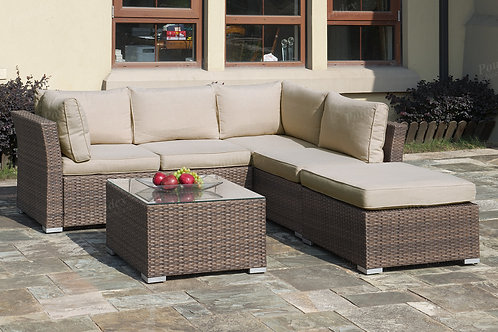 50247 Port 4pc Patio Set (Loveseat, Cocktail Table, Ottoman)