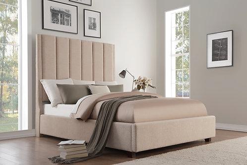 Neunan Henry Beige Fabric Bed