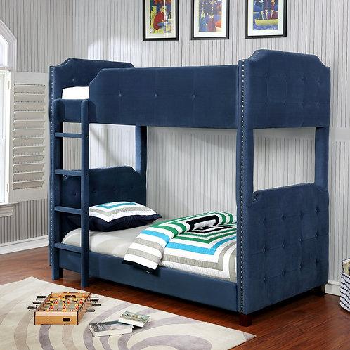 7601 Milt Velvet Blue Bunk Bed