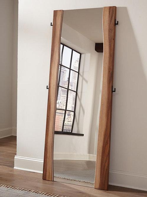 Cali Winslow Contemporary Floor Mirror in Smokey Walnut and Coffee Bean