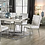 Thumbnail: CILEGON Imprad White Leather Side Chair