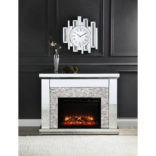 All 90522 Glam Mirrored-Stone Laksha Fireplace