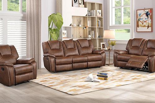 8083 Mg Brown Reclining Sofa