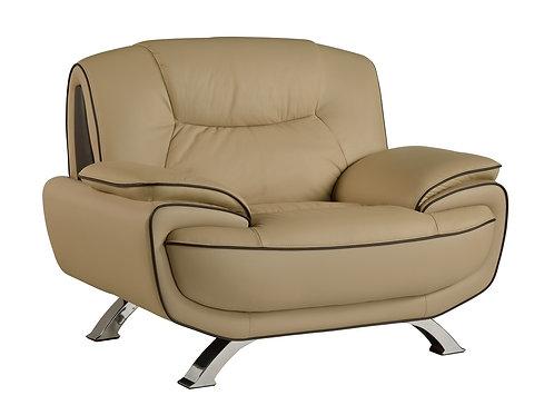 405 Geo Modern Beige Leather Chair