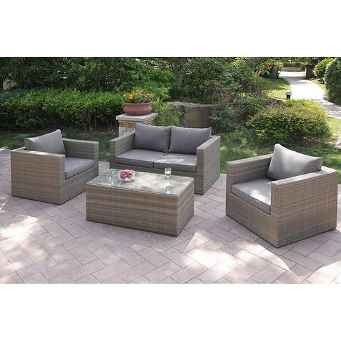 403 Port 4pc Patio Set (Loveseat, 2 Chairs, Table)