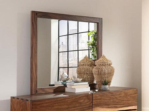 Cali Winslow Contemporary Mirror in Smokey Walnut and Coffee Bean