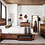 Thumbnail: Cali Winslow Contemporary Platform Bed w/Storagein Smokey Walnut and Coffee Bean