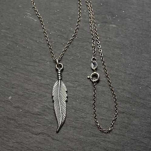 Antique Leaf Pendant & Chain