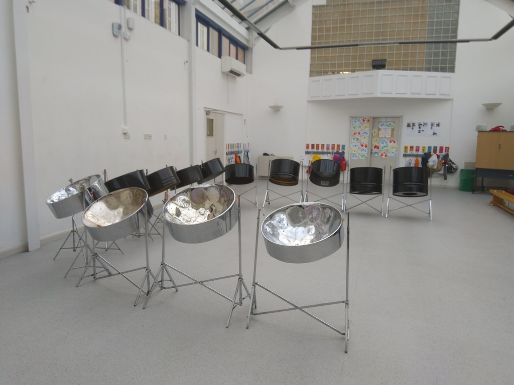 Caribbean steel drum workshop