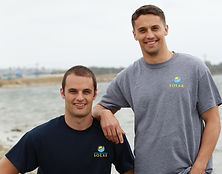 Chaz Mathias and Dylan Mathias, owners of First Response Solar