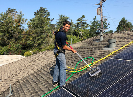 Cleaning your Solar Panels in 3 Easy Steps.