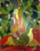 la+fuente.65x45cm. Tinta grafito y acuar