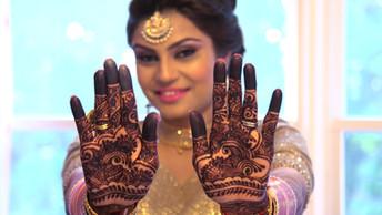 Bride with Dark Mendhi