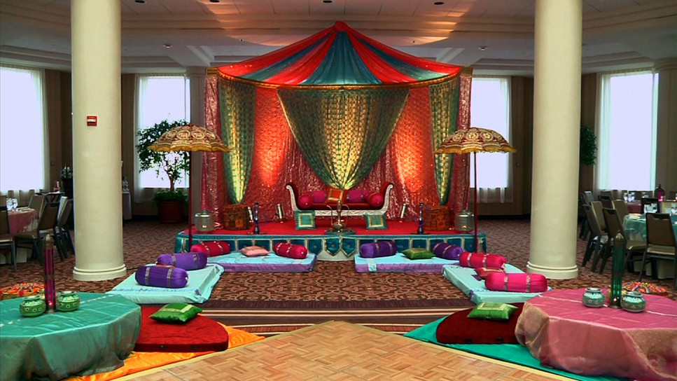 Colorful Sangeet Stage