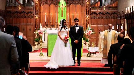 Bride and Groom Catholic Ceremony