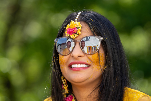 Bride Sees Her Groom in Sunglasses