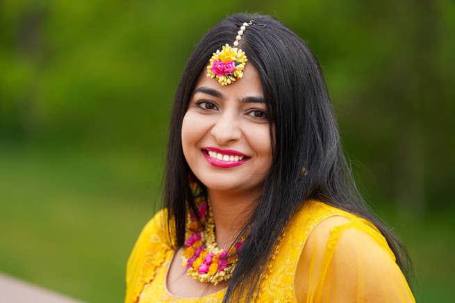 Lovely Bride in Haldi Attire